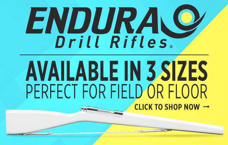 Shop our selection of in stock Endura color guard drill rifles - perfect for the football field or winterguard floor!