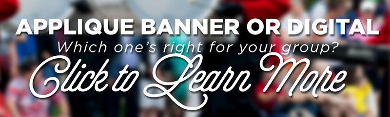 Digital or Applique - which design your own parade banner is right for your group?