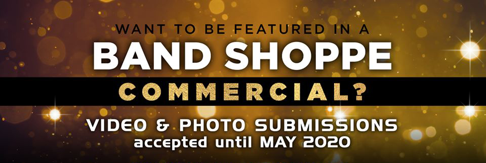 Submit your videos and photos performing with a manufactured item from Band Shoppe to be featured in a Band Shoppe video commercial shown at Lucas Oil Stadium!