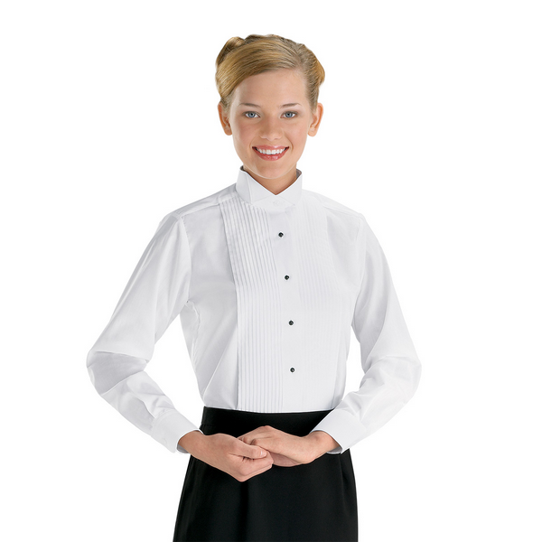 wide range website for discount distinctive style Women's Traditional Collar Tuxedo Shirt